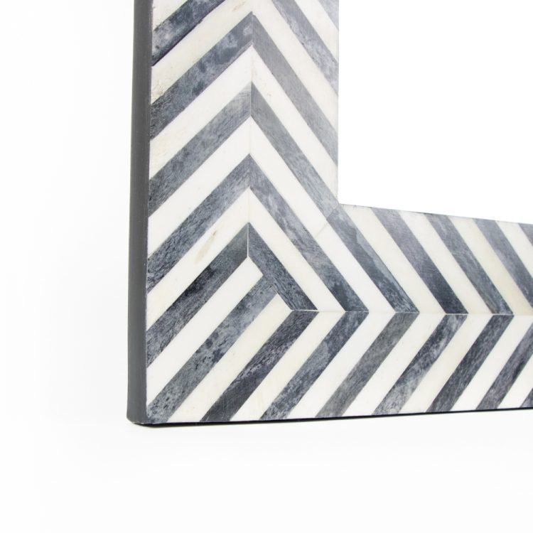 Black and white resin mirror   Gallery 1   TradeAid