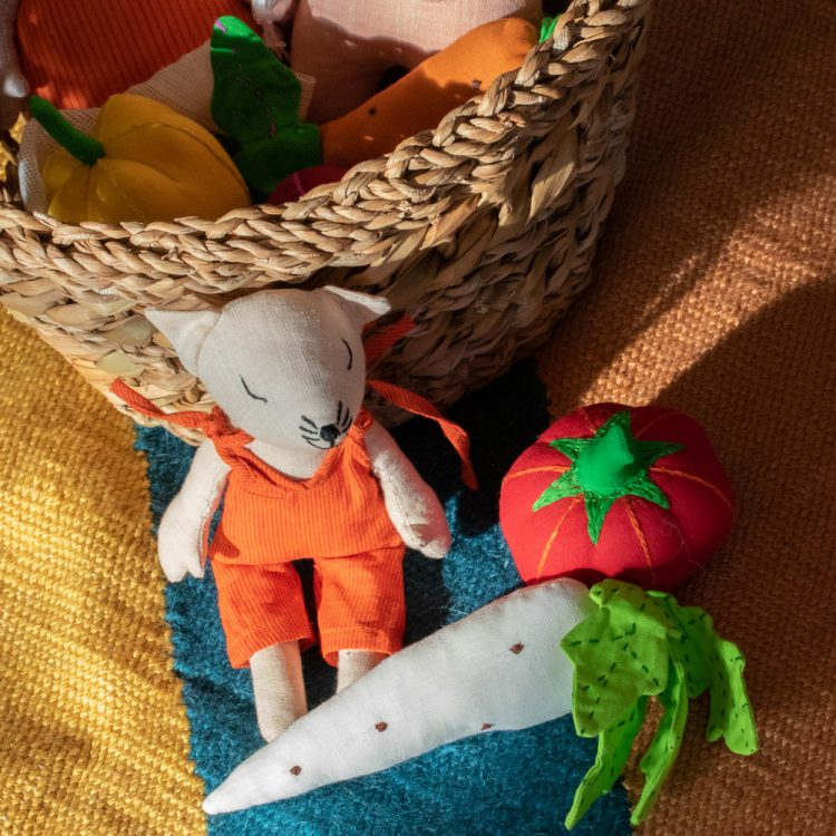 Vegetable toys in bag   TradeAid