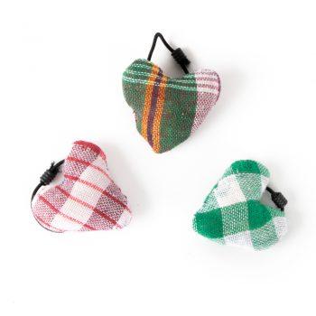 Checkered heart hair tie | TradeAid
