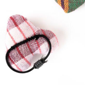 Checkered heart hair tie | Gallery 2 | TradeAid