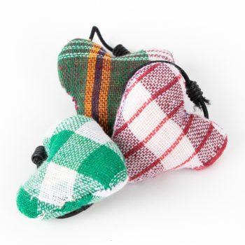 Checkered heart hair tie | Gallery 1 | TradeAid