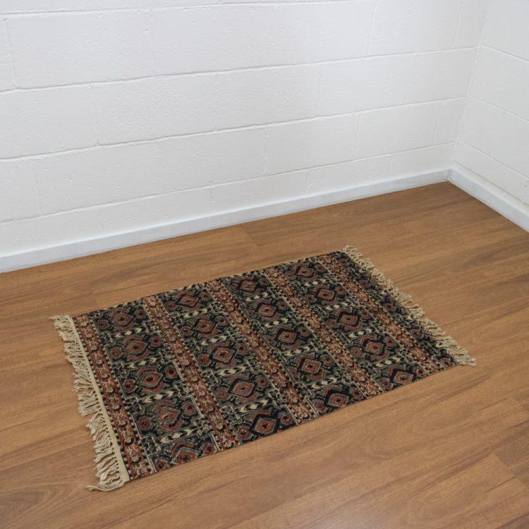 Abstract kalamkari rug   TradeAid