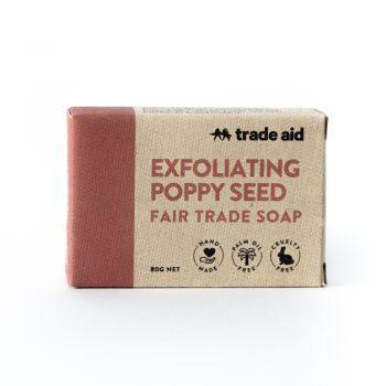Exfoliating poppy seed soap | TradeAid