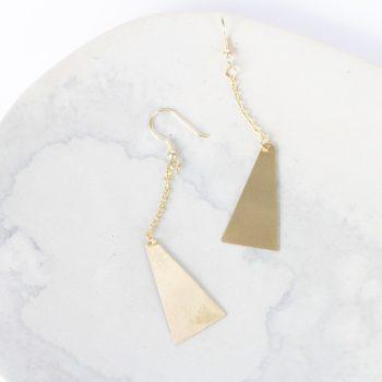 Triangle drop earrings | TradeAid