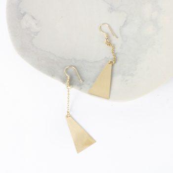 Triangle drop earrings | Gallery 1 | TradeAid