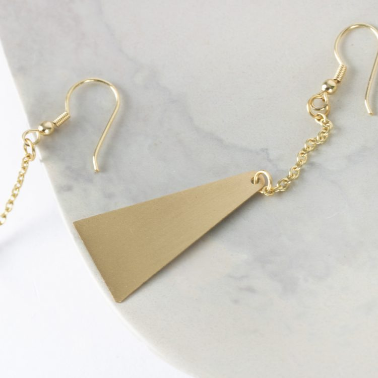 Triangle drop earrings | Gallery 2 | TradeAid