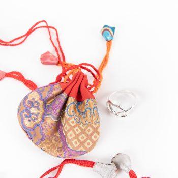 Brocade drawstring bag | TradeAid