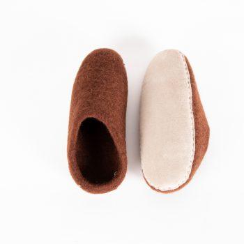 Chocolate felt slipper (38)   Gallery 1   TradeAid