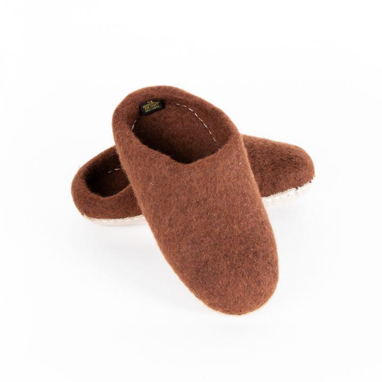 Chocolate felt slipper (38)   Gallery 2   TradeAid