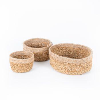 Braided oval basket (set of three) | TradeAid