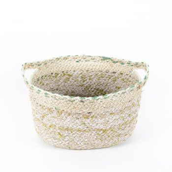 Recycled sari oval basket large | TradeAid