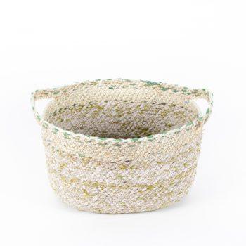 Recycled sari oval basket large | TradeAid