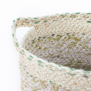 Recycled sari oval basket large | Gallery 1 | TradeAid