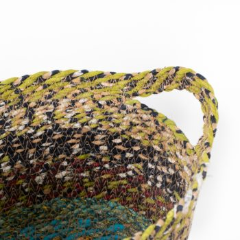 Recycled sari oval basket small | Gallery 1 | TradeAid