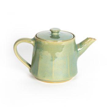 Green stoneware teapot | TradeAid