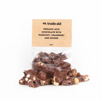 Limited edition – hazelnut, ginger and cranberry chocolate | TradeAid
