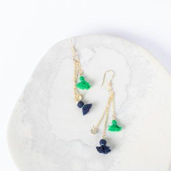 Fabric tassel earrings | TradeAid