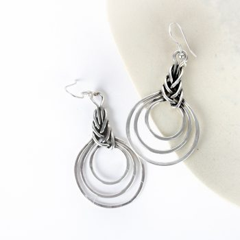 Braided circle earrings | TradeAid