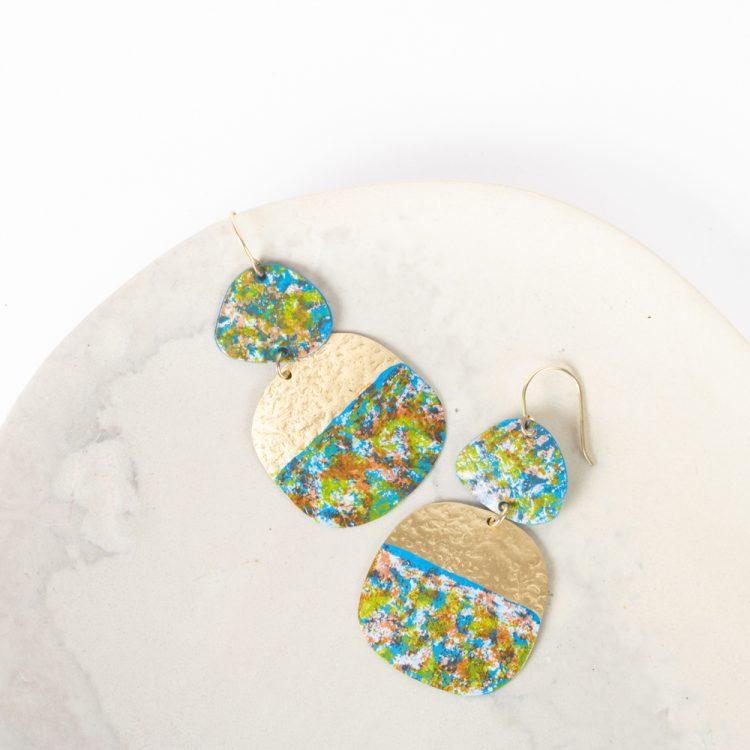 Patina drop earrings | TradeAid