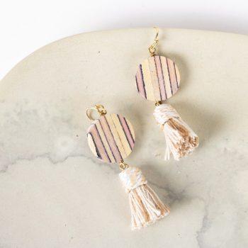 Fawn wood tassel earrings | TradeAid