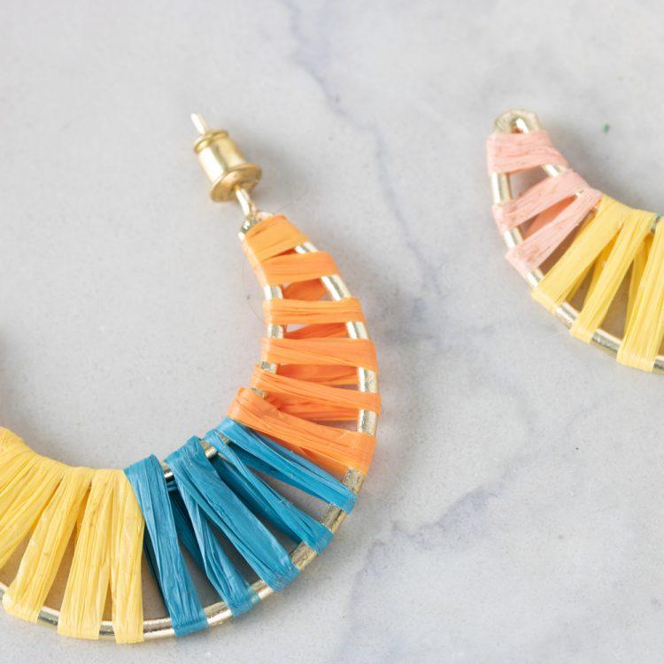 Raffia moon earrings | Gallery 2 | TradeAid