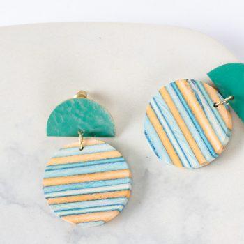 Ocean papdi wood earrings   Gallery 1   TradeAid