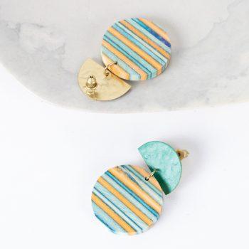 Ocean papdi wood earrings   Gallery 2   TradeAid