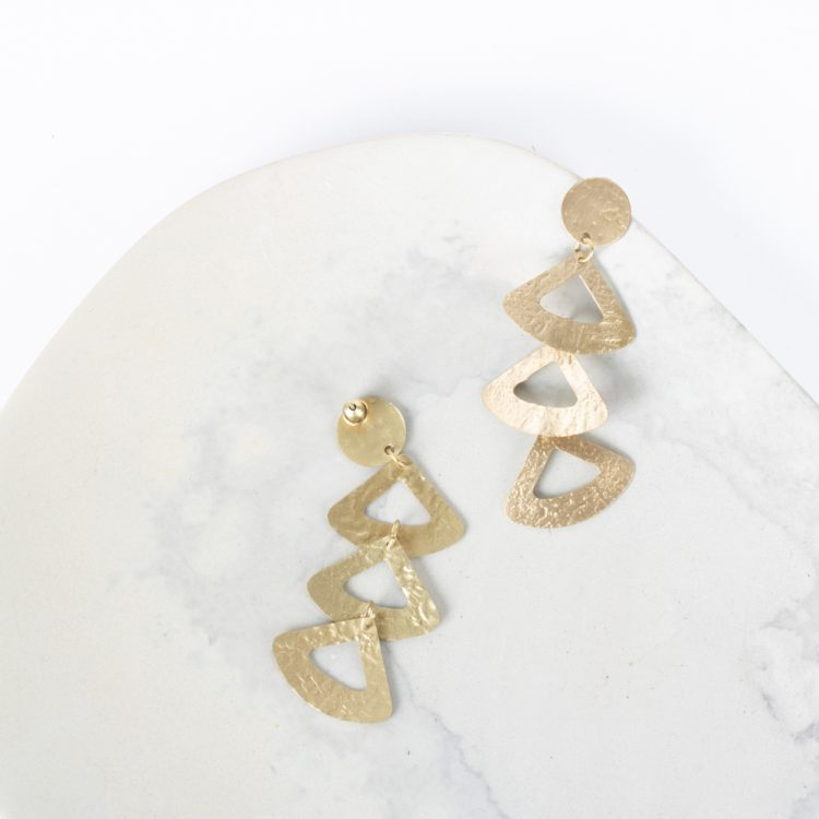 Triple triangle earrings | TradeAid