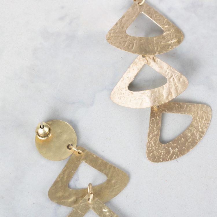Triple triangle earrings | Gallery 2 | TradeAid
