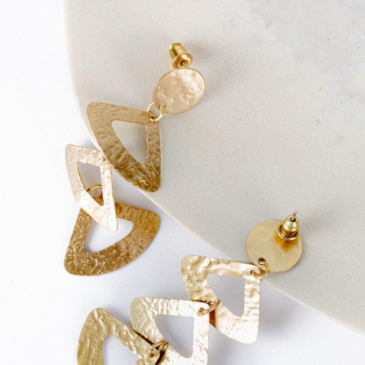 Triple triangle earrings | Gallery 1 | TradeAid