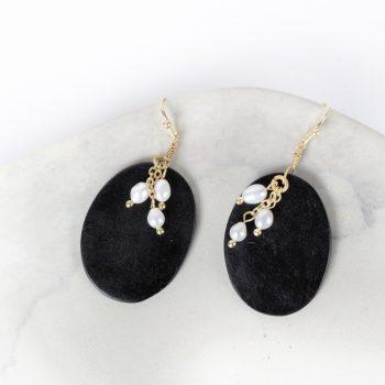 Black and white earrings | TradeAid