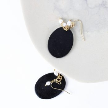 Black and white earrings   Gallery 1   TradeAid