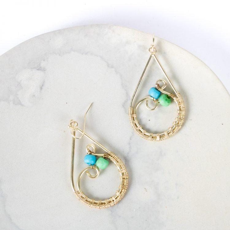 Teardrop earrings   TradeAid