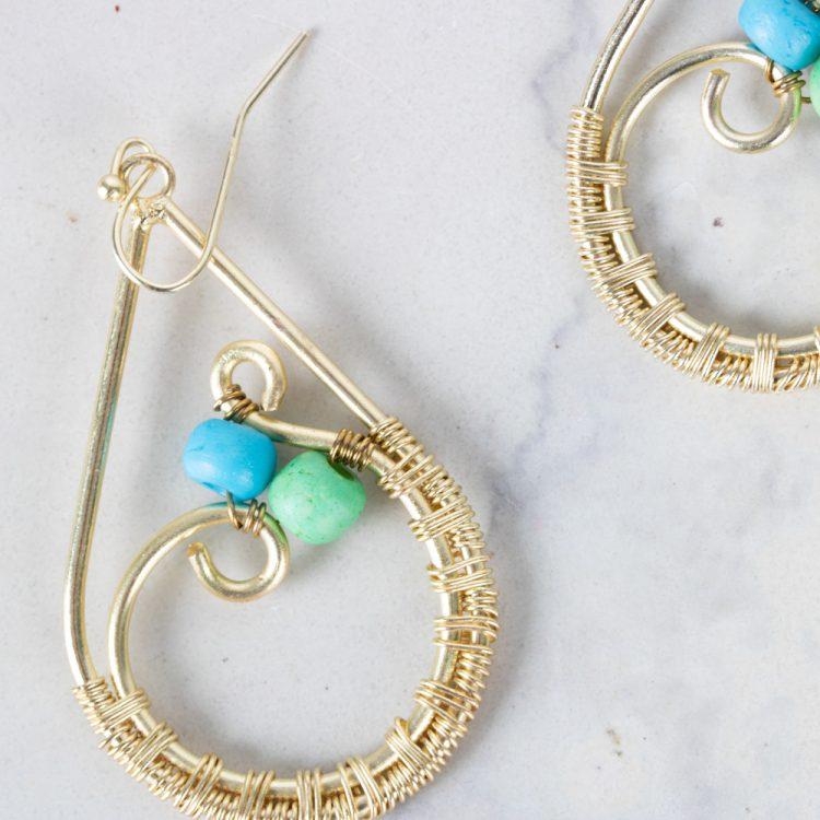 Teardrop earrings   Gallery 2   TradeAid