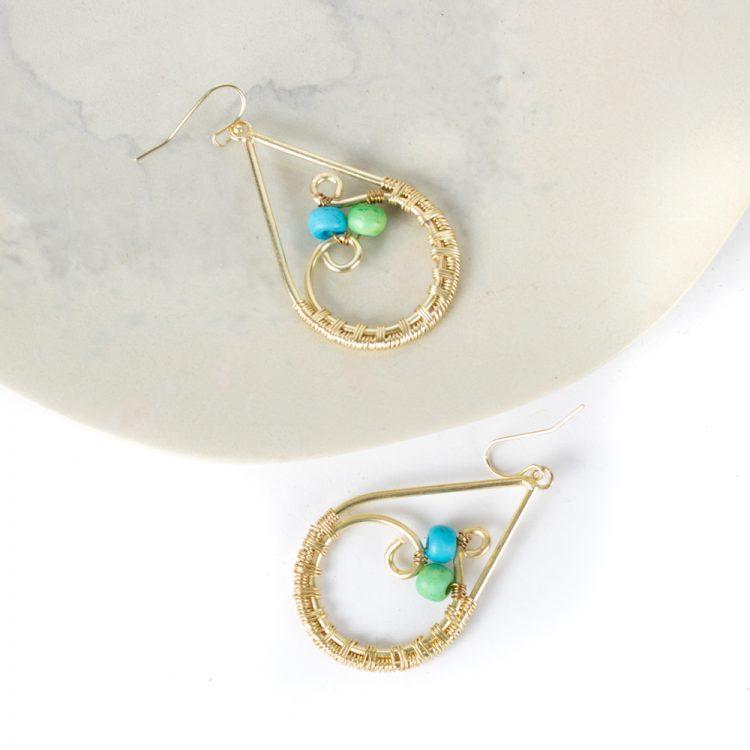Teardrop earrings   Gallery 1   TradeAid
