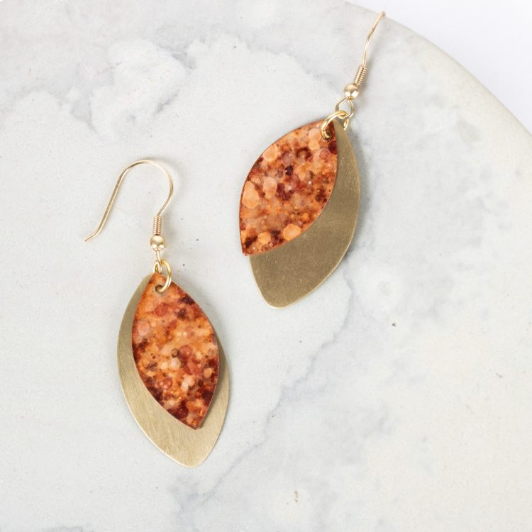 Rust patina earrings   TradeAid