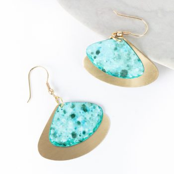 Aqua triangle earrings | TradeAid