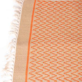 Orange zigzag rug   Gallery 2   TradeAid