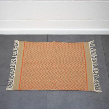 Orange zigzag rug | TradeAid