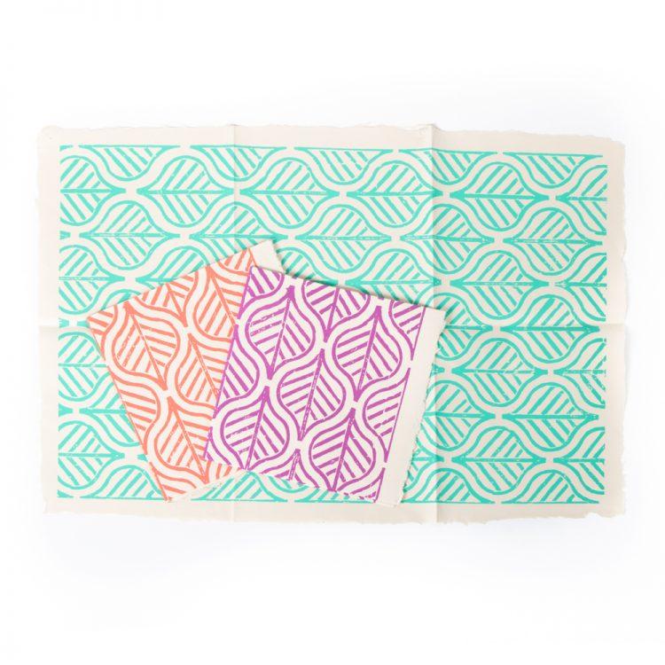 Big leaf gift wrap (set of 3)   TradeAid