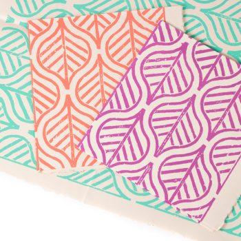 Big leaf gift wrap (set of 3)   Gallery 1   TradeAid