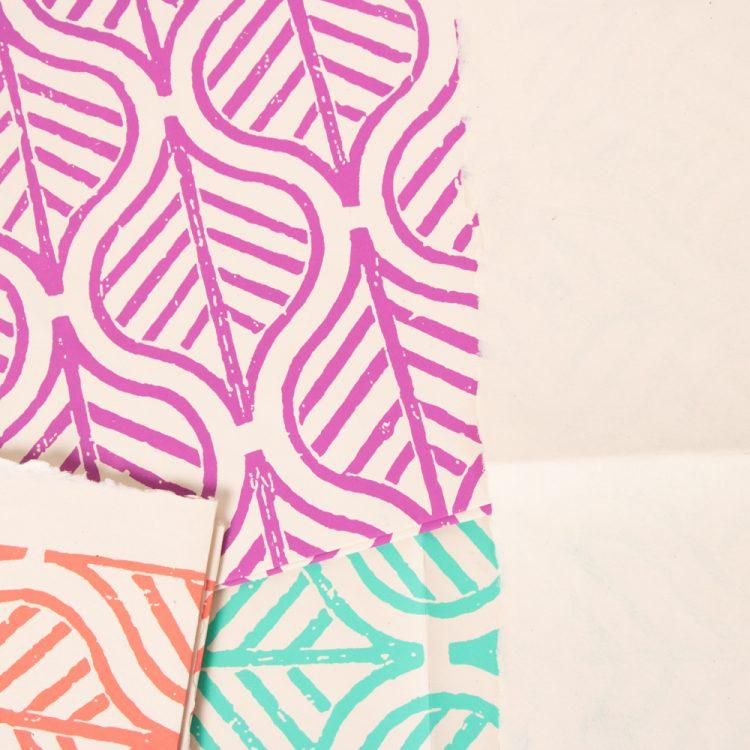 Big leaf gift wrap (set of 3)   Gallery 2   TradeAid