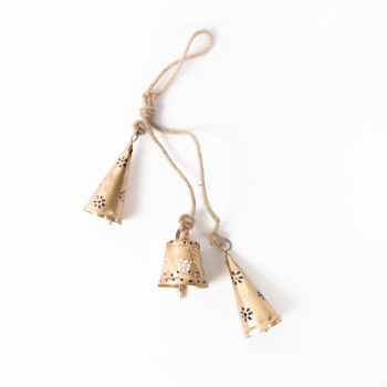 Gold bells on jute string | TradeAid