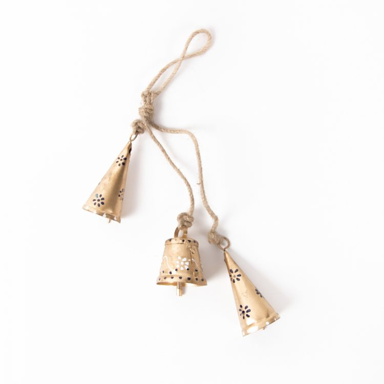 Gold bells on jute string   TradeAid