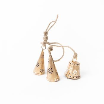 Gold bells on jute string   Gallery 1   TradeAid