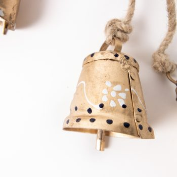 Gold bells on jute string   Gallery 2   TradeAid