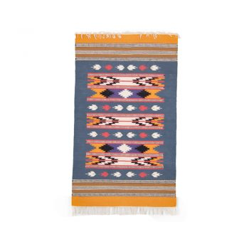 Ochre and ink cotton rug | TradeAid
