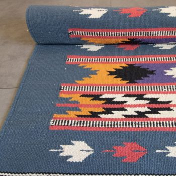 Ochre and ink cotton rug   Gallery 1   TradeAid