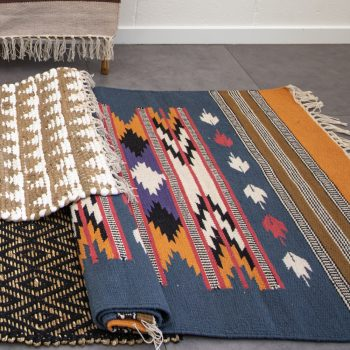 Ochre and ink cotton rug   Gallery 2   TradeAid
