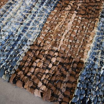 Plaid leather and cotton rug   Gallery 2   TradeAid